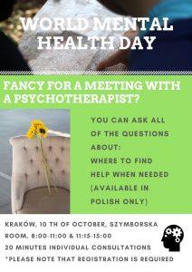 światowy dzień zdrowia psychicznego 2018